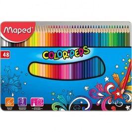 Maped Color Peps Metal Box, 48 barev