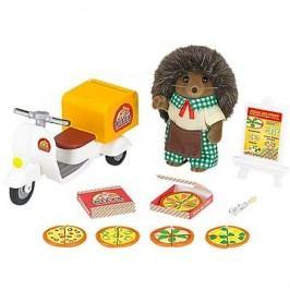Sylvanian Families Rozvoz pizzy s příslušenstvím a jednou figurkou