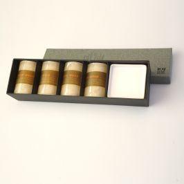 Dárková sada svíček II. 28 x 8 cm béžová