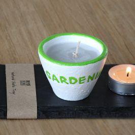 Svíčka Gardenia 6 x 7 cm zelená