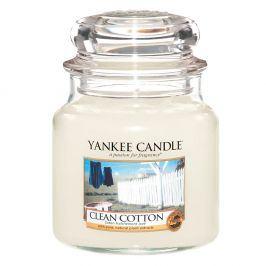 YC svíčka ve skle Clean Cotton střední  bílá