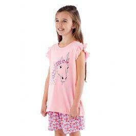 Dívčí pyžamo Polly krátké  růžová