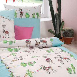 Povlečení Lama Party 140x200 jednolůžko - standard bavlna