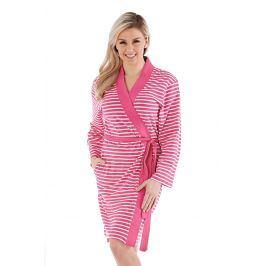 Dámský bavlněný župan Kimono růžový  růžovobílá
