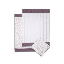 Set kuchyňských utěrek Pavučina 50x70 cm bavlna