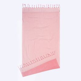 Plážová osuška Kikoy růžová 90x180 cm růžová