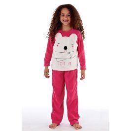 Dívčí  hřejivé pyžamo Bear  růžová
