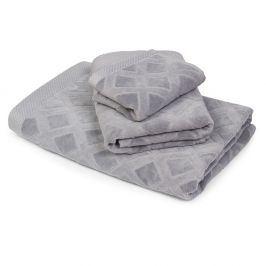 Velký ručník Charles šedý 50x90 cm Ručník velký
