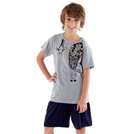 Chlapecké pyžamo Giraffe  šedomodrá