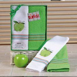 Dárková sada ručníku a utěrky Mimosa jablko 50x70 cm bavlna
