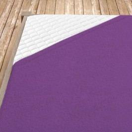 Napínací froté prostěradlo fialové 100x200 cm jednolůžko - standard froté