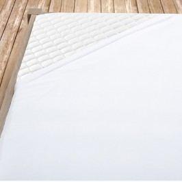 Bílé bambusové jersey prostěradlo 100x200 cm jednolůžko - standard Bambus - jersey
