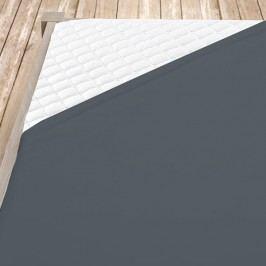 Tmavě šedé bambusové jersey prostěrdlo 100x200 cm jednolůžko - standard Bambus - jersey