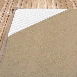 Béžové bambusové prostěradlo Jednolůžko Bambus - froté