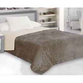 Přehoz Capri na jednolůžko krémovo-hnědý 160x200 cm polyester