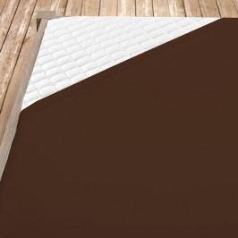 Hnědé bambusové jersey prostěradlo 100x200 cm jednolůžko - standard Bambus - jersey