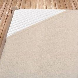 Kapučínové bambusové prostěradlo 100x200 cm jednolůžko - standard Bambus - froté