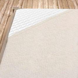 Smetanové bambusové prostěradlo 100x200 cm jednolůžko - standard Bambus - froté