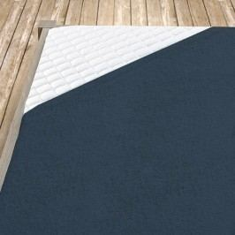 Tmavě šedé bambusové prostěradlo 100x200 cm jednolůžko - standard Bambus - froté