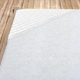 Napínací froté prostěradlo bílé Jednolůžko Bavlna - froté