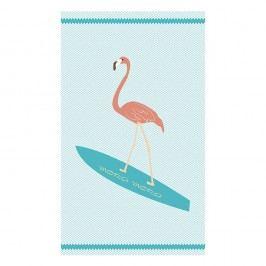 Plážová osuška Surf Flamingo 100x170 cm barevná