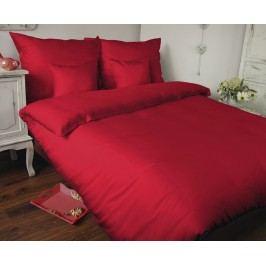 Povlečení UNI červené 140x200 jednolůžko - standard Bavlněný satén