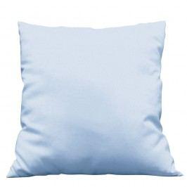 Povlak na dekorační polštář Uni světle modrý 40x40 cm Bavlněný satén