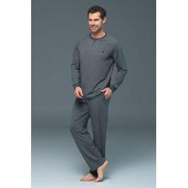 Pánské pyžamo Rene  antracitová