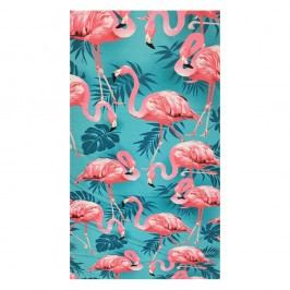 Plážová osuška Flamingos 100x170 cm barevná