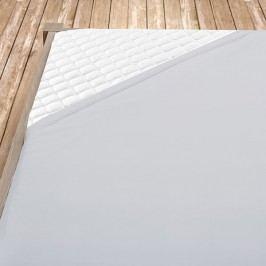 Napínací jersey prostěradlo šedé 160x200 cm dvojlůžko Jersey