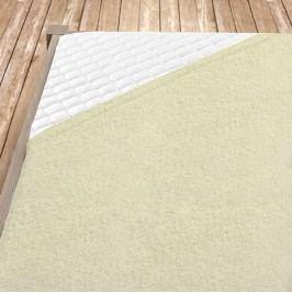 Napínací froté prostěradlo krémové Jednolůžko Bavlna - froté