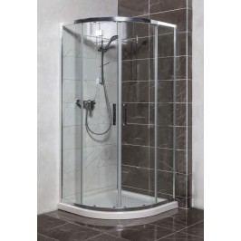 Sprchový kout Siko TEX čtvrtkruh 90 cm, R 550, čiré sklo, chrom profil, univerzální SIKOTEXS90CRT