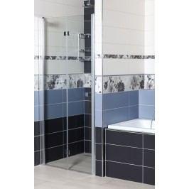 Sprchové dveře Siko SK skládací 90 cm, čiré sklo, chrom profil, univerzální SIKOSK90