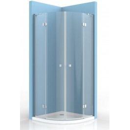 Sprchový kout SIKO Stream čtvrtkruh 90 cm, R 550, čiré sklo, chrom profil, univerzální SIKOSTREAMS90CRT
