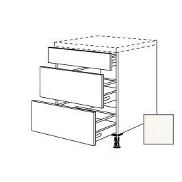 ERIKA24 Kuchyňská skříňka spodní 45 cm 3Z plnovýsuv, bílá lesk 450.UA45