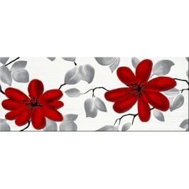 Dekor Fineza Fresh flowers red 20x50 cm, lesk DFRESHFRE