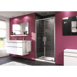 Sprchové dveře Huppe Next dvoukřídlé 90 cm, čiré sklo, chrom profil 140905.069.322