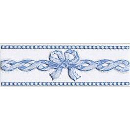 Listela Fineza Ricordi bleu 7x20 cm, lesk RICLIFIA