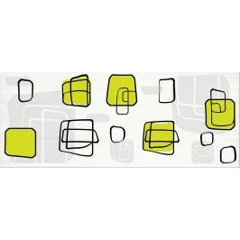 Dekor Fineza Fresh cube green 20x50 cm, lesk DFRESHGE