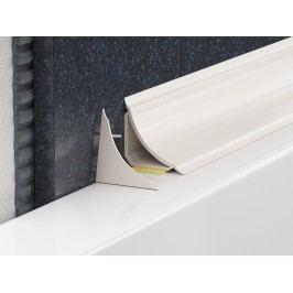 Lišta PVC vanová bílá lepící oblá LVL