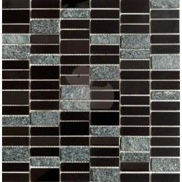 Premium Mosaic MOS4815BK mozaika 29,8 x 30,4 cm nerez-černá