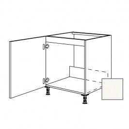ERIKA24 Kuchyňská skříňka spodní dřez 60 cm 1D levá, bílá lesk 450.SPUD60.L