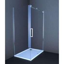 Sprchový kout Anima T-Linea obdélník 80 cm, čiré sklo, chrom profil, pravá TL12080TPSET