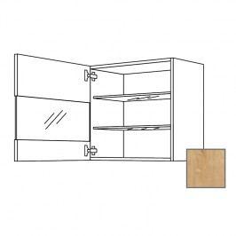 LUSI24 Kuchyňská skříňka horní 60 cm 1D levá, dub, sklo 698.WGLS6001L
