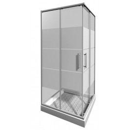 Sprchový kout Jika Lyra plus čtverec 80 cm, sklo proužky, bílý profil H2513810006651