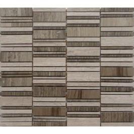 Premium Mosaic Stone Mozaika kamenná mix šedá 2,5x7 cm STMOS2570GY