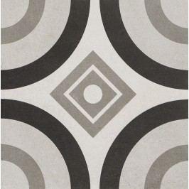 Dlažba Dom Comfort C grey circle 25x25 cm, mat, rektifikovaná DCOCC40