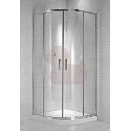Sprchový kout Jika Cubito Pure čtvrtkruh 80 cm, čiré sklo, chrom profil H2532410026681
