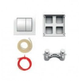 H8956430000001 Jika Set oddáleného splachování, pneumatický, pro podomítkové moduly 9565.1 a 2