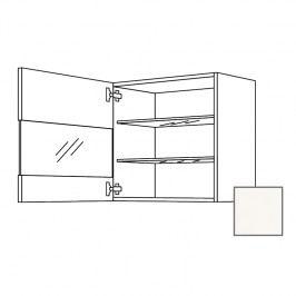 ERIKA24 Kuchyňská skříňka horní 45 cm 1D levá, bílá lesk, sklo 450.WGLS4501L